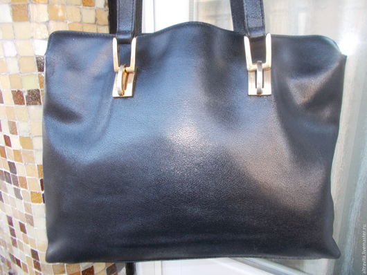 Винтажные сумки и кошельки. Ярмарка Мастеров - ручная работа. Купить Сумка МАХIМА  винтаж италия. Handmade. Черный
