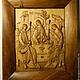 Иконы ручной работы. Ярмарка Мастеров - ручная работа. Купить Икона из дерева Святая Троица. Handmade. Икона, коричневый, троица