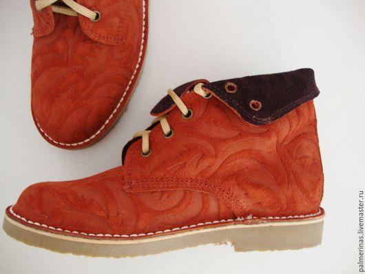 Обувь ручной работы. Ярмарка Мастеров - ручная работа. Купить Высокие ботинки Барокко медного цвета 36. Handmade. Рыжий