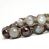 Украшения handmade. Livemaster - original item Set Shamballa bracelets, with labradorite and garnet. Handmade.