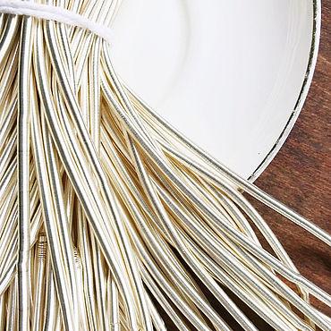 Материалы для творчества ручной работы. Ярмарка Мастеров - ручная работа Канитель гладкая мягкая, 3 мм, светлое золото. Handmade.