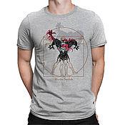 """Одежда handmade. Livemaster - original item Футболка с принтом """"Витрувианский Веном"""". Handmade."""