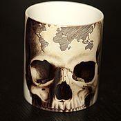 """Посуда ручной работы. Ярмарка Мастеров - ручная работа Кружка """" Art череп"""". Handmade."""
