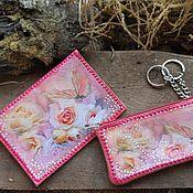 Ключницы ручной работы. Ярмарка Мастеров - ручная работа Комплект ключница и обложка паспорт натуральная кожа. Handmade.