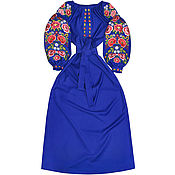 "Одежда handmade. Livemaster - original item Woolen embroidered dress ""Petrykivka Colours"". Handmade."
