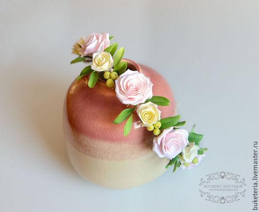 Свадебные украшения ручной работы. Ярмарка Мастеров - ручная работа. Купить Веночек на голову. Handmade. Веночек, цветы в прическу, розы