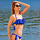 fitting in our showroom! you can combine the color of the swimsuit!