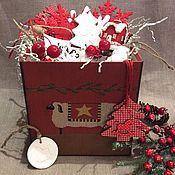 Подарки к праздникам ручной работы. Ярмарка Мастеров - ручная работа Набор елочных игрушек N 21. Handmade.