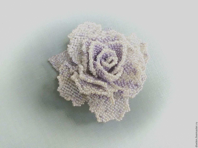 ST. PETERSBURG WINTER. Brooch-rose bead, Brooches, Divnogorsk,  Фото №1