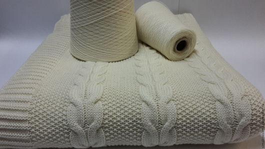Текстиль, ковры ручной работы. Ярмарка Мастеров - ручная работа. Купить Плед вязаный. Handmade. Белый, плед для фотосессий
