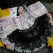 Аксессуары handmade. Livemaster - original item Collar shoulder Spike knitted lace. Handmade.