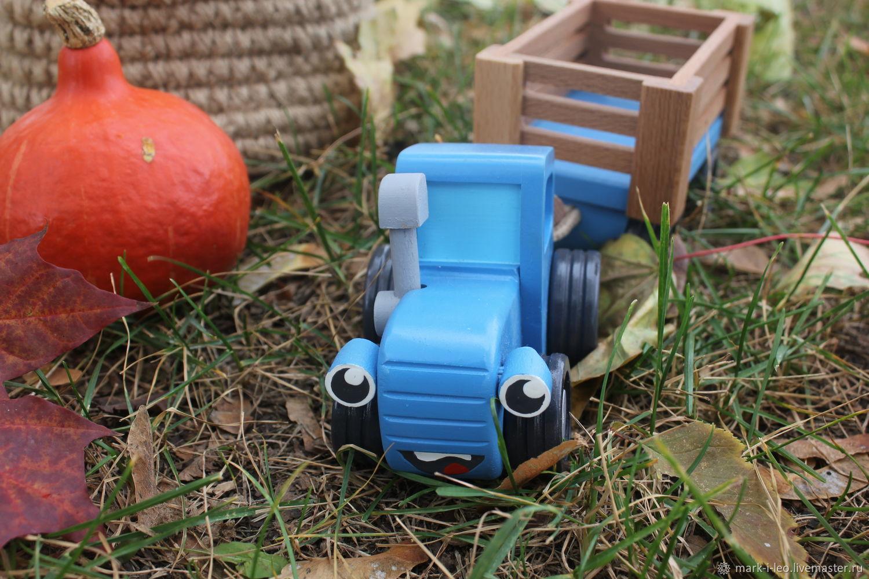 Игрушка Синий трактор из мультика – заказать на Ярмарке ...