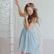 Одежда ручной работы. Ярмарка Мастеров - ручная работа Сарафан нежно-голубого цвета. Handmade.