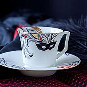 Чайные пары ручной работы. Ярмарка Мастеров - ручная работа Чайная пара, чашка и блюдце, коллекционный фарфор, фарфор.. Handmade.