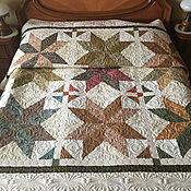 Для дома и интерьера handmade. Livemaster - original item Interior elements: Quilted bedspread with stars. Handmade.