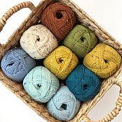 Пряжа ручной работы. Ярмарка Мастеров - ручная работа Носочная пряжа Lana Grossa Meilenweit Uni/Tweed. Handmade.