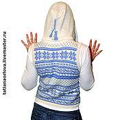 Одежда ручной работы. Ярмарка Мастеров - ручная работа Жилет с капюшоном «Скандинавская весна». Handmade.