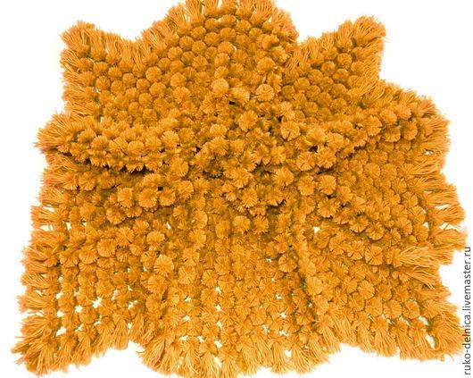 """Пледы и одеяла ручной работы. Ярмарка Мастеров - ручная работа. Купить Плед """"Помпон"""" (детский плед, плед крючком, плед вязаный. Handmade."""