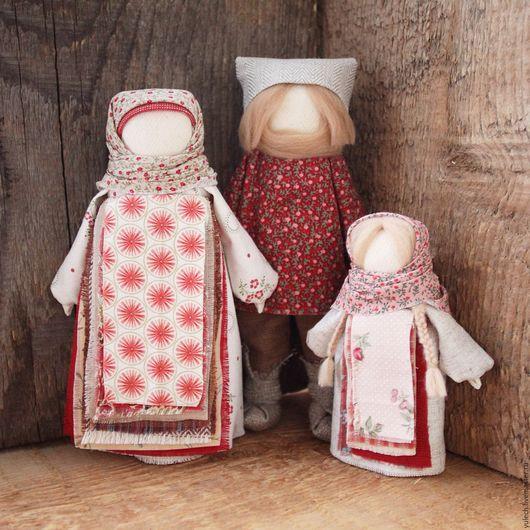 """Народные куклы ручной работы. Ярмарка Мастеров - ручная работа. Купить Народные русские куколки образ семьи """"Вместе"""". Handmade."""