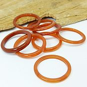 Украшения handmade. Livemaster - original item Thin Carnelian dark ring 16.5-20.75 R-R. Handmade.