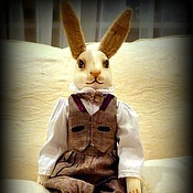 Куклы и игрушки handmade. Livemaster - original item Rabbit Bruno (cold porcelain FLUMO). Handmade.. Handmade.