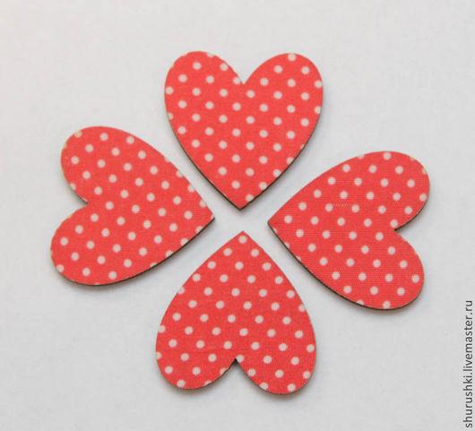 Упаковка ручной работы. Ярмарка Мастеров - ручная работа. Купить Сердечки деревянные. Handmade. Ярко-красный, сердце, декоративный элемент