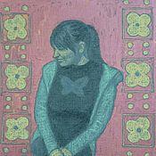 Картины и панно ручной работы. Ярмарка Мастеров - ручная работа Портрет по фотографии в графике девушка ребенок собака. Handmade.