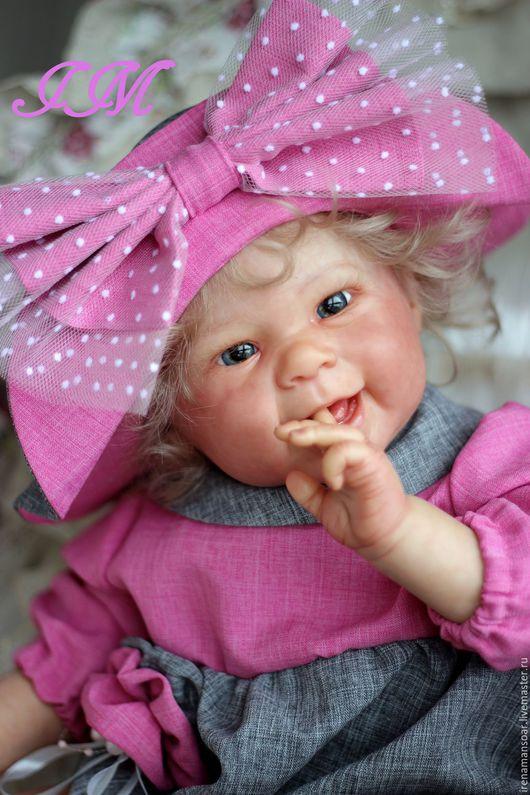 Куклы-младенцы и reborn ручной работы. Ярмарка Мастеров - ручная работа. Купить Мейзи. Handmade. Бледно-розовый, Виниловая заготовка