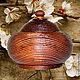 Кухня ручной работы. Ярмарка Мастеров - ручная работа. Купить Кубышка с крышкой Текстурированная из натуральной сосны Бочонок K25. Handmade.