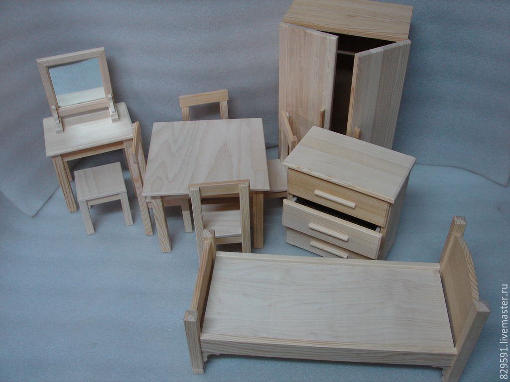 Мебель из дерево для кукол своими руками