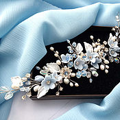 Свадебный салон handmade. Livemaster - original item Wedding hair decoration/Decoration with natural pearls. Handmade.