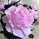 """Интерьерные композиции ручной работы. Ярмарка Мастеров - ручная работа. Купить Букет """"Зефирные розы"""". Handmade. Розовый, для кабинета, фом"""