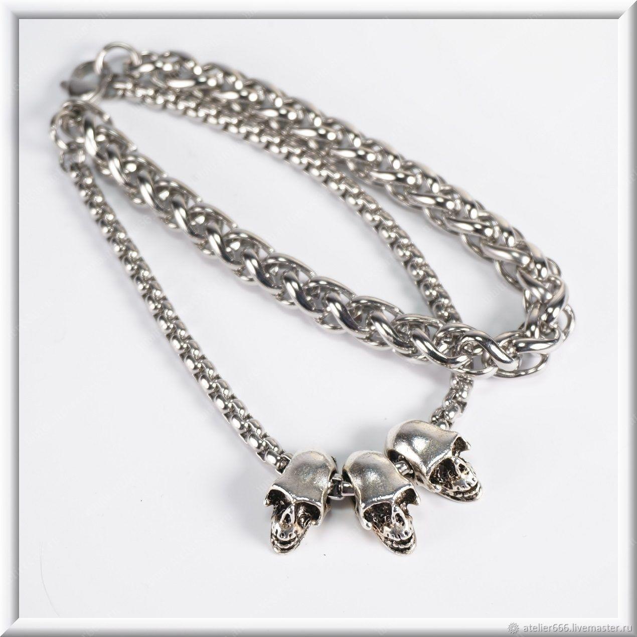 Men's bracelet no. 8 steel 8 mm, 4mm, Bracelet set, Moscow,  Фото №1
