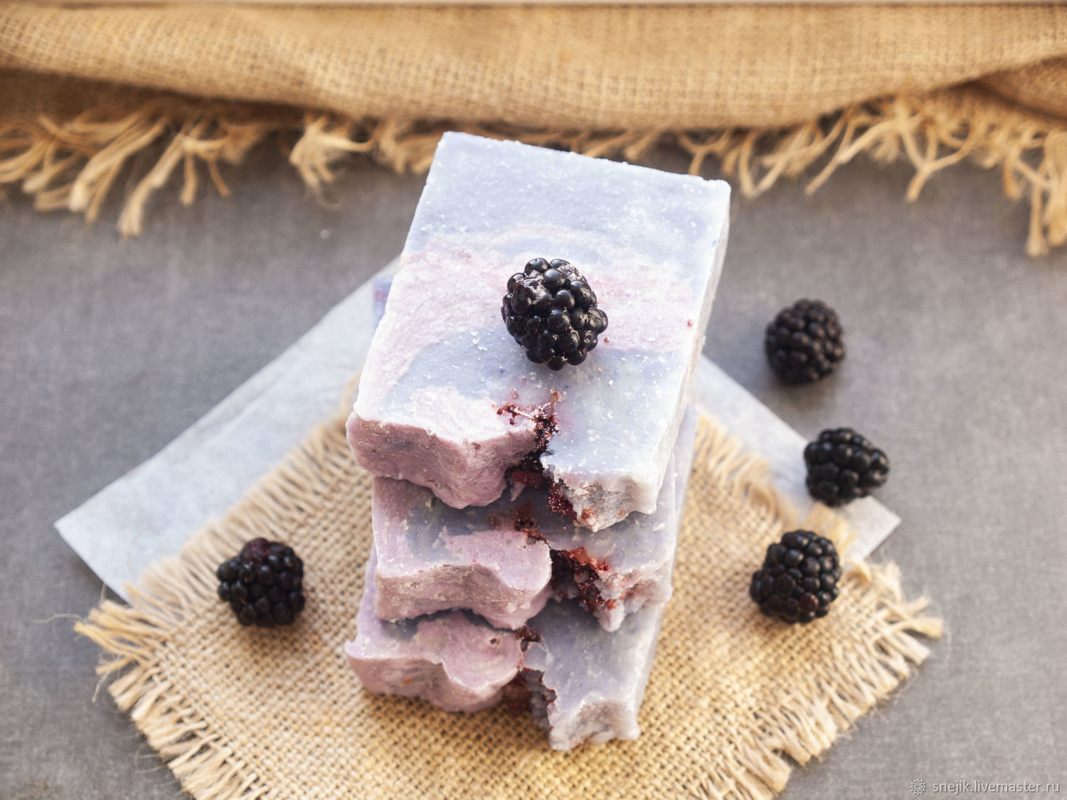 BLACKBERRY handmade soap, from scratch, Soap, Moscow,  Фото №1