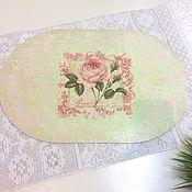 Для дома и интерьера ручной работы. Ярмарка Мастеров - ручная работа Подставка под тарелку и салфетница цветы. Handmade.