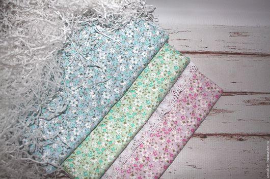 """Шитье ручной работы. Ярмарка Мастеров - ручная работа. Купить Ткань хлопок 100% для шитья """"Цветы нежные"""". Handmade. Комбинированный"""