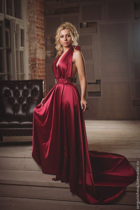 """Платья ручной работы. Ярмарка Мастеров - ручная работа. Купить Платье"""" Scarlet Madness"""". Handmade. Марсала, красивое платье"""