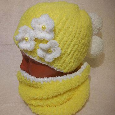 """Товары для малышей ручной работы. Ярмарка Мастеров - ручная работа Комплект для девочки """" Солнечная осень"""". Handmade."""