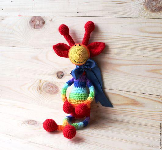 Игрушки животные, ручной работы. Ярмарка Мастеров - ручная работа. Купить Радужный Жирафик Роберт. Handmade. Комбинированный, вязание на заказ