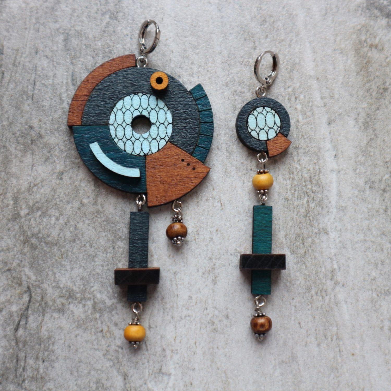 Asymmetric space earrings, Earrings, Smolensk,  Фото №1