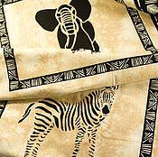 """Ткани ручной работы. Ярмарка Мастеров - ручная работа Ткани для пэчворка """"Сафари""""(панель). Handmade."""