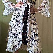 Одежда ручной работы. Ярмарка Мастеров - ручная работа Ажурное пальто, кардиган . Ирландское кружево ,ирландское вязание .. Handmade.