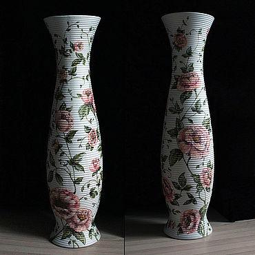 Для дома и интерьера ручной работы. Ярмарка Мастеров - ручная работа Вазы: Цветы. Handmade.
