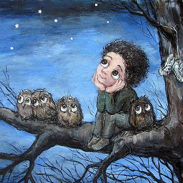 Картины и панно ручной работы. Ярмарка Мастеров - ручная работа Чакветадзе Нино. Звёздное небо. Handmade.