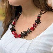 Украшения handmade. Livemaster - original item Necklace: Boho neck jewelry made of natural stones red coral. Handmade.