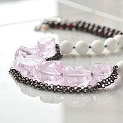 Украшения handmade. Livemaster - original item Beads WINTER MORNING quartz garnet agate. Handmade.