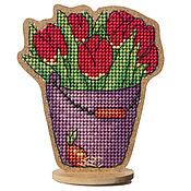 """Материалы для творчества ручной работы. Ярмарка Мастеров - ручная работа Набор для вышивания  сувенира """"Тюльпаны"""" BB-62. Handmade."""