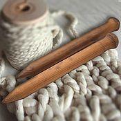 handmade. Livemaster - original item Large knitting Needles to knit of Wood 30mm/300#13. Handmade.