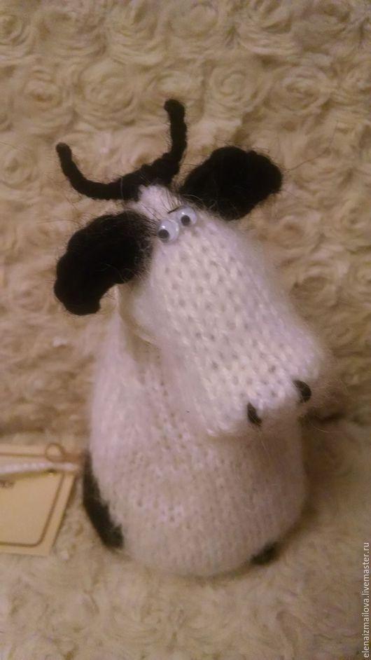 Игрушки животные, ручной работы. Ярмарка Мастеров - ручная работа. Купить Одна очень грустная корова. Handmade. Белый, в коллекцию