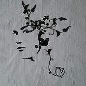Картины и панно ручной работы. Ярмарка Мастеров - ручная работа Картина АРТ - Девушка цветок. Handmade.